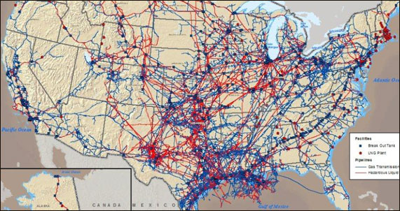 Oil And Gas Pipelines In The US The New Editor - Map of oil pipelines in the us